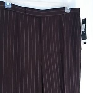 Ralph Lauren brown pinstripe pants 16W
